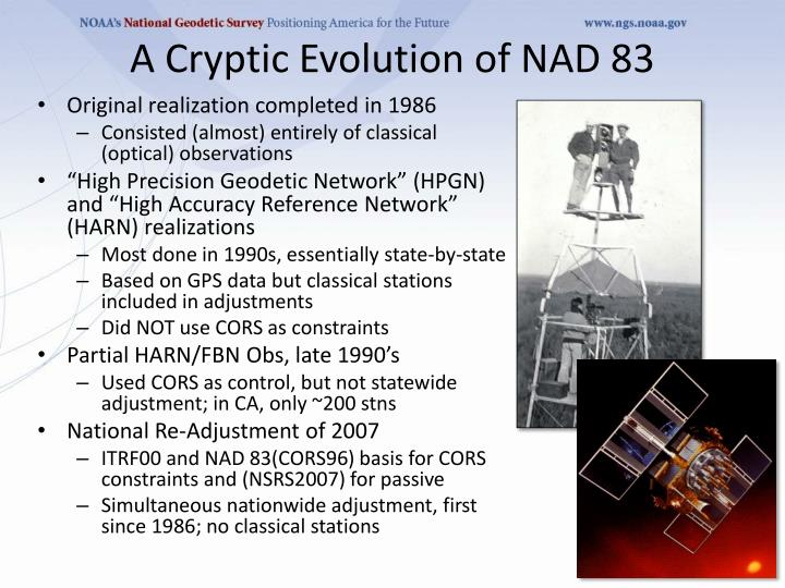 A Cryptic Evolution of NAD 83
