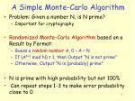 a simple monte carlo algorithm