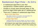 randomized algorithms an intro