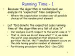 running time 1