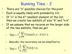 running time 2