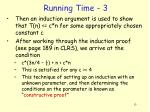 running time 3