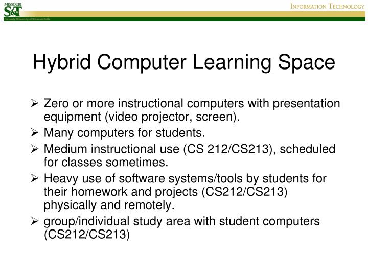 Hybrid Computer Learning Space