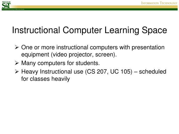 Instructional Computer Learning Space