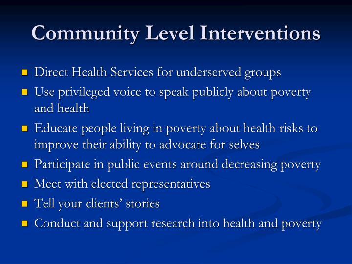 Community Level Interventions