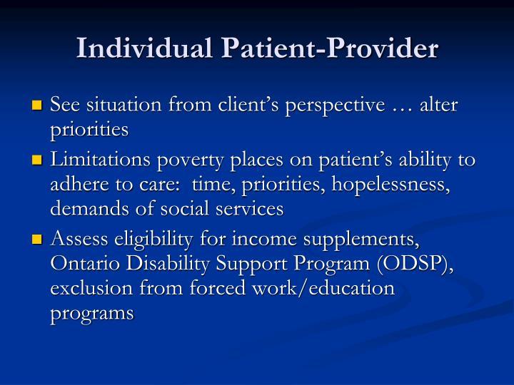 Individual Patient-Provider