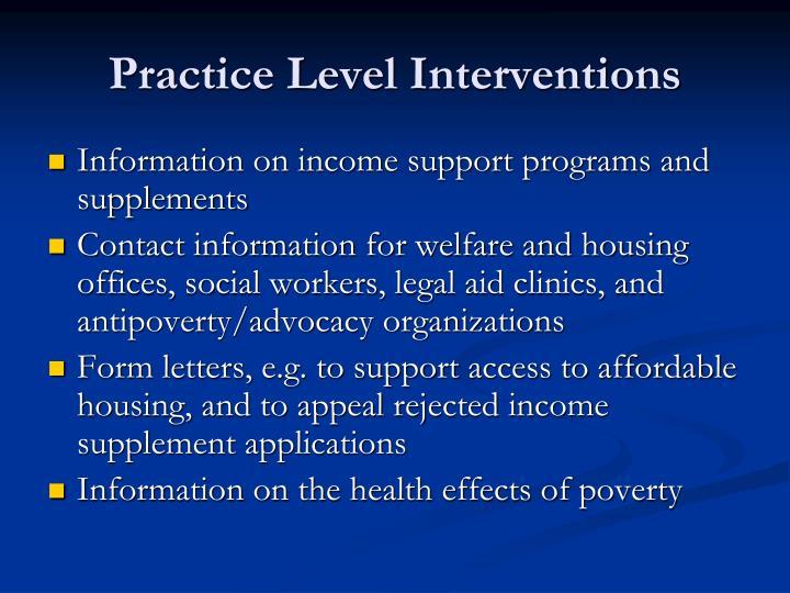 Practice Level Interventions