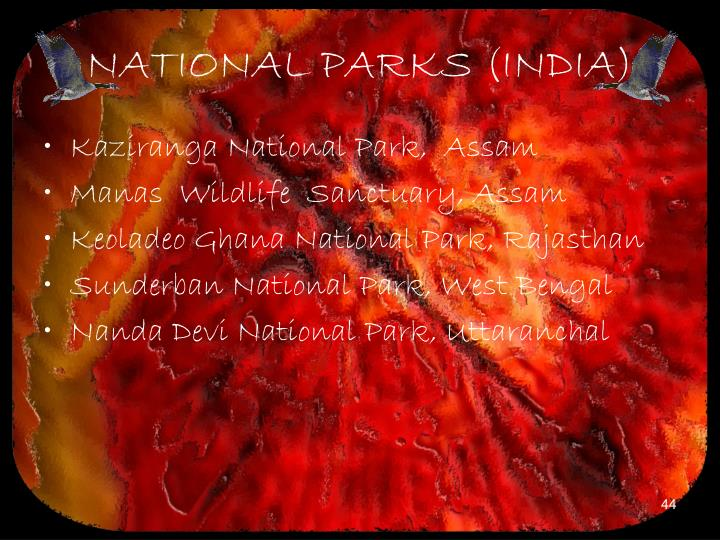 NATIONAL PARKS (INDIA)