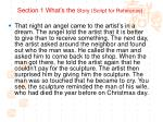 section 1 what s the story script for reference1