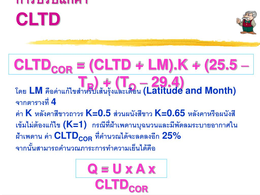 PPT - การประมาณภาระความเย็นของเครื่องปรับอากาศ Cooling Load