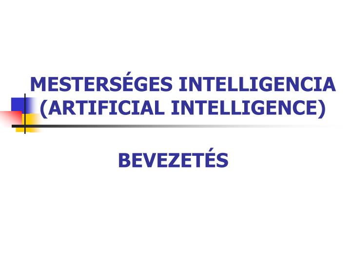 mesters ges intelligencia artificial intelligence