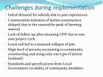 challenges during implementation