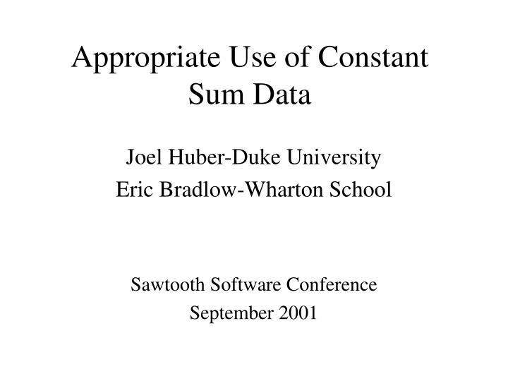appropriate use of constant sum data n.