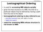 lexicographical ordering