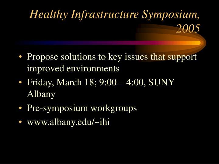 Healthy Infrastructure Symposium, 2005