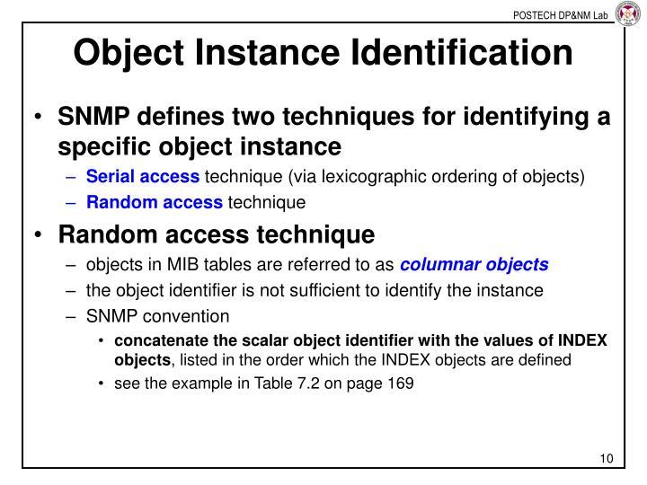 Object Instance Identification