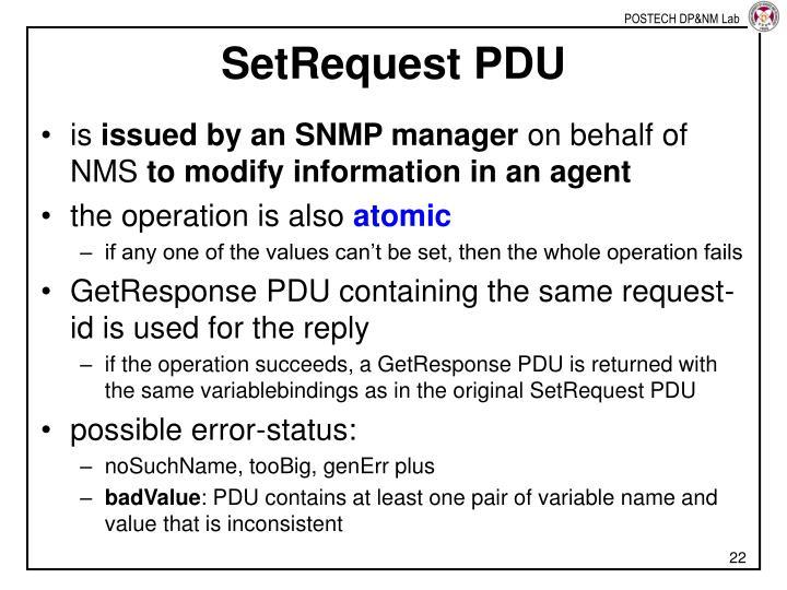 SetRequest PDU