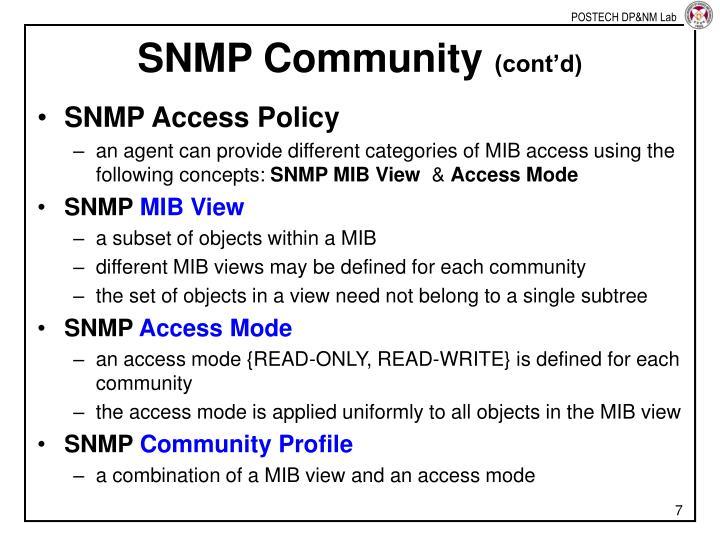 SNMP Community