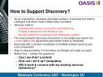 how to support discovery