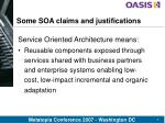 some soa claims and justifications