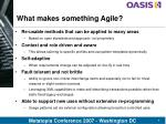 what makes something agile