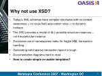 why not use xsd