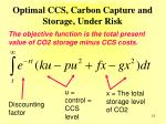 optimal ccs carbon capture and storage under risk