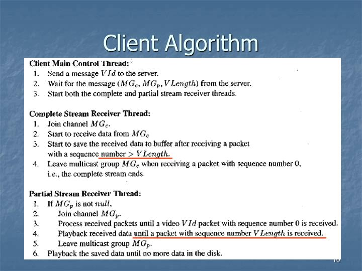 Client Algorithm