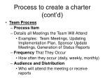 process to create a charter cont d5