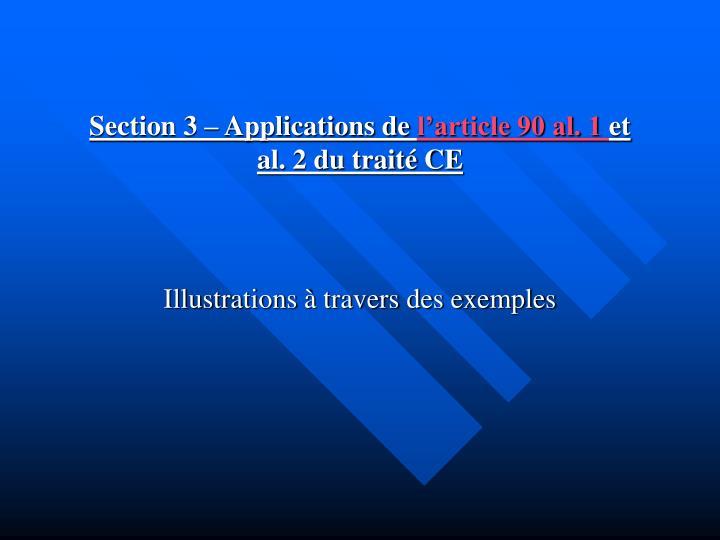 Section 3 – Applications de