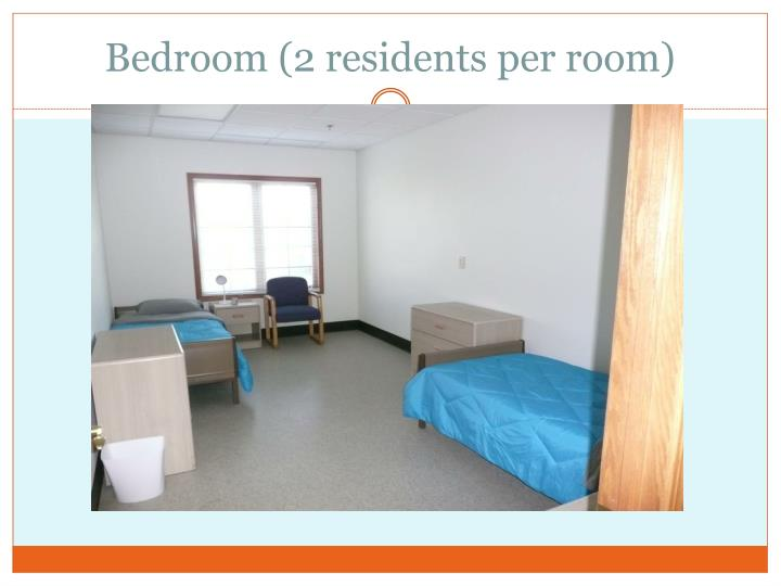 Bedroom (2 residents per room)