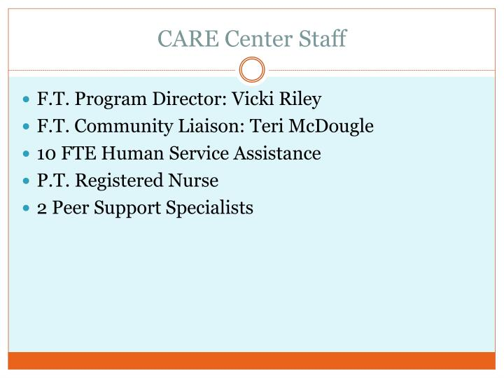 CARE Center Staff