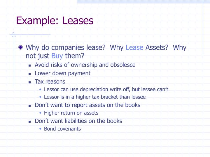 Example: Leases