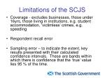 limitations of the scjs