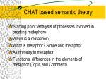 chat based semantic theory