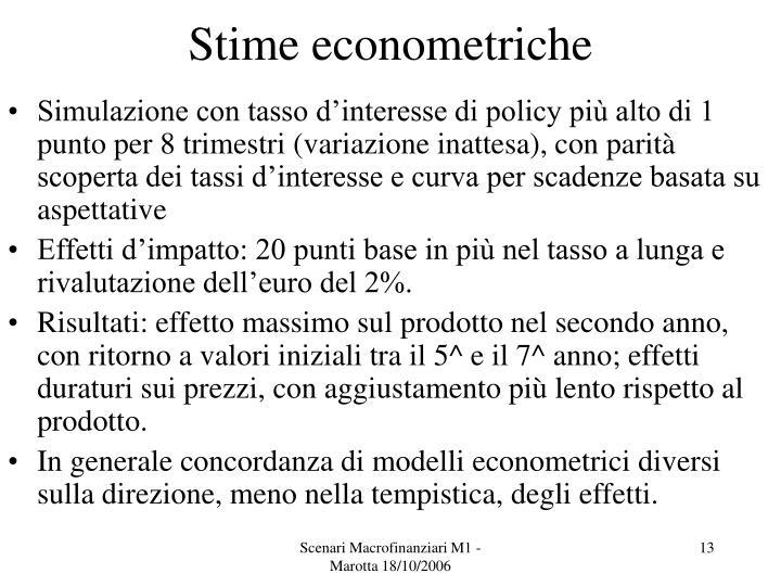 Stime econometriche