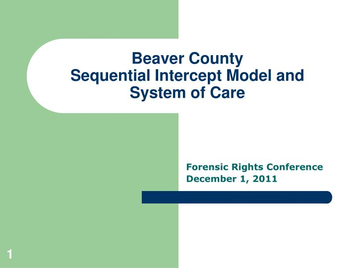 beaver county sequential intercept model and system of care n.