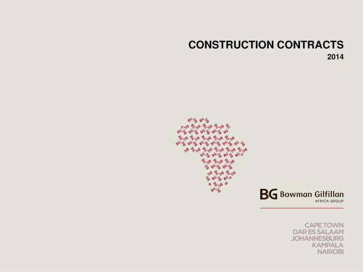 construction contracts n.