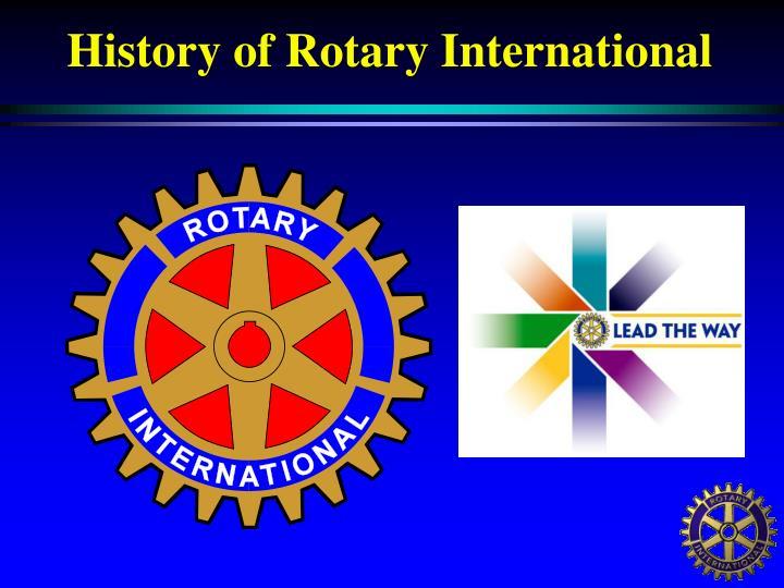 History of rotary international