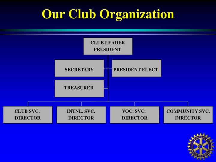 Our Club Organization