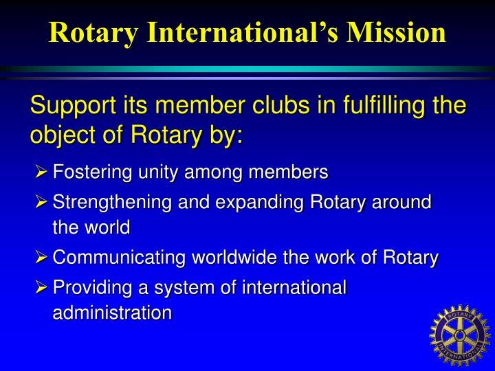 Rotary International's Mission