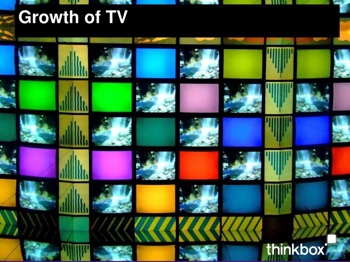 Growth of tv