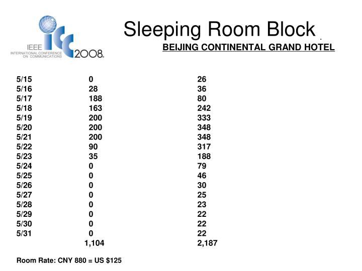 Sleeping Room Block