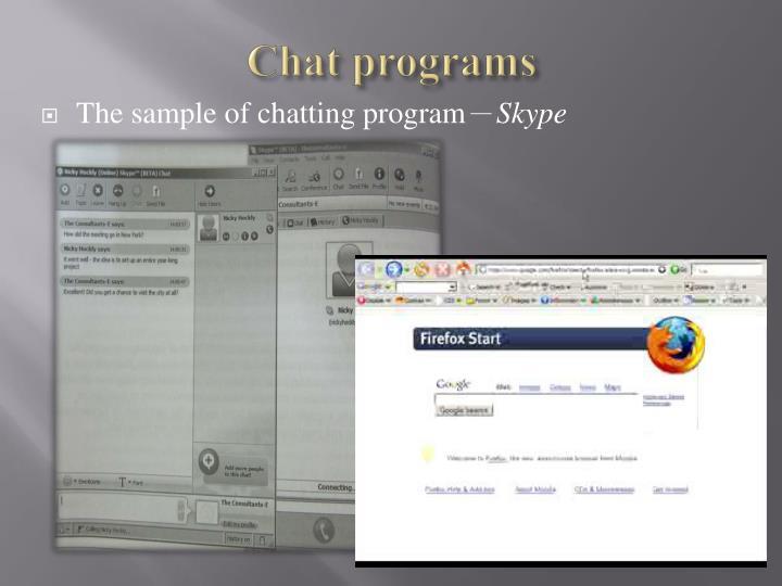 Chat programs