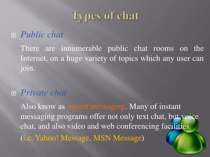 Types of chat