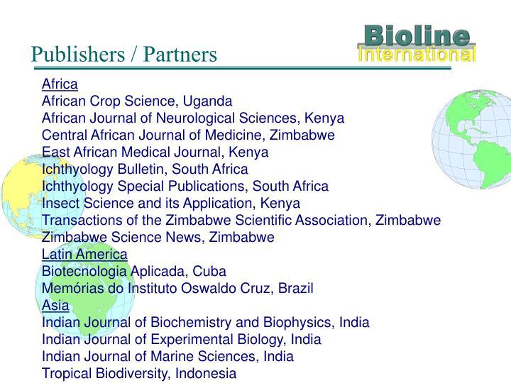Publishers / Partners