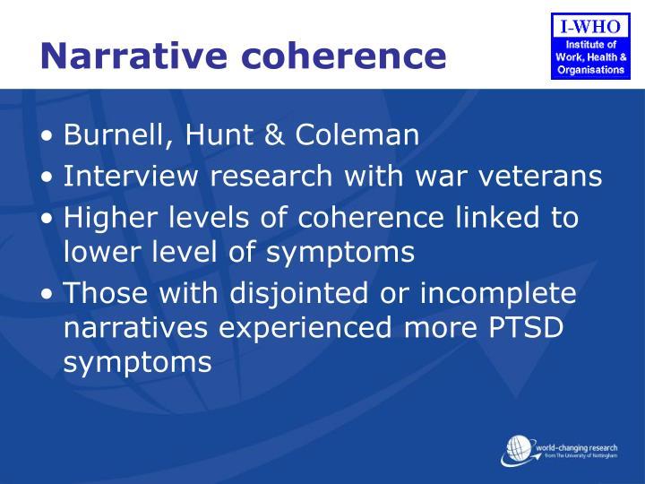 Narrative coherence