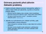 ochrana pacient p ed z en m z kladn probl my