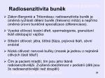 radiosenzitivita bun k