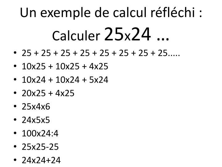 Un exemple de calcul réfléchi : Calculer